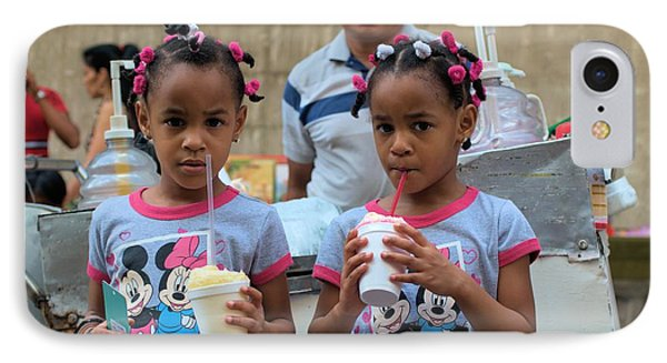 Ice Cream For Twin Cuties IPhone Case by Douglas Pike