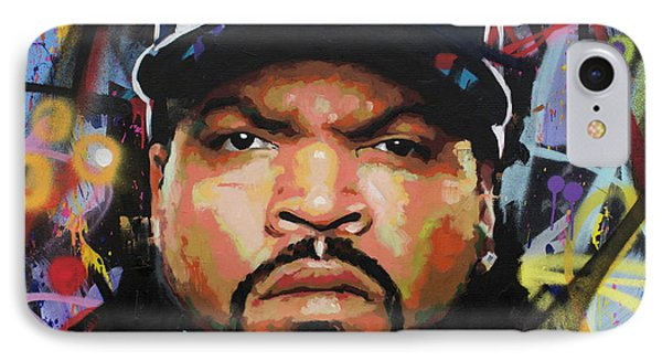 IPhone Case featuring the painting Ice Cube by Richard Day