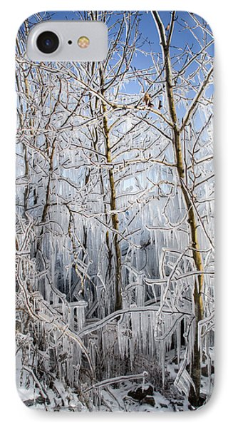 Ice Curtain IPhone Case by Jill Laudenslager