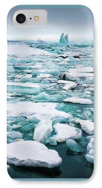 IPhone Case featuring the photograph Ice Galore In The Jokulsarlon Glacier Lagoon Iceland by Matthias Hauser