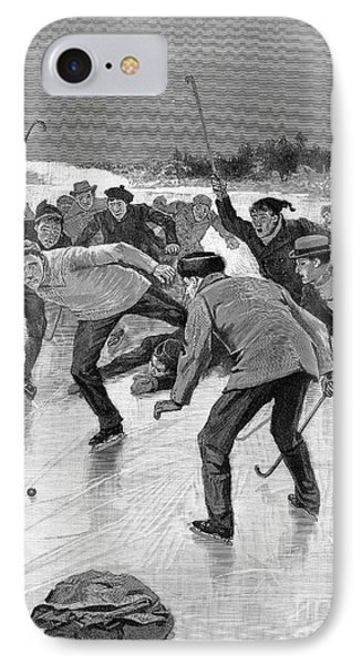 Ice Hockey, 1898 Phone Case by Granger