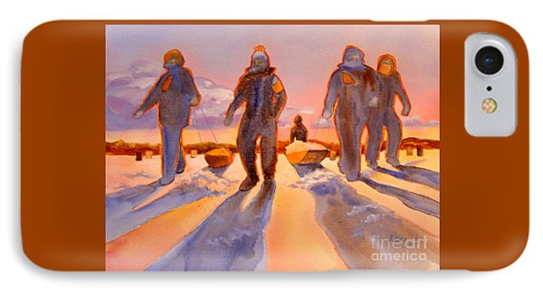 Ice Men Come Home IPhone Case by Kathy Braud
