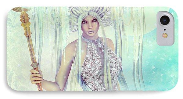 IPhone Case featuring the digital art Ice Moon Princess by Jutta Maria Pusl