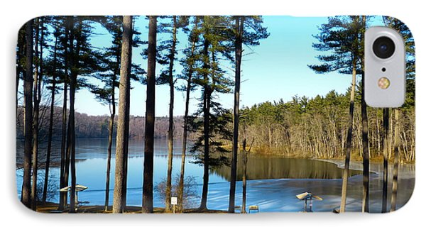 IPhone Case featuring the photograph Ice On The Water by Donald C Morgan