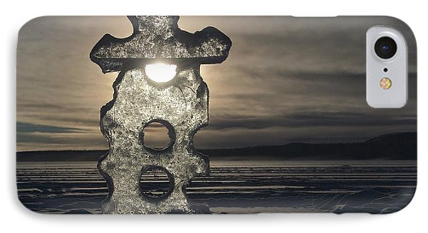 IPhone Case featuring the photograph Ice Sculpter by Scott Holmes