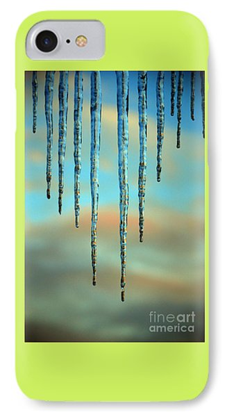 IPhone Case featuring the photograph Ice Sickles - Winter In Switzerland  by Susanne Van Hulst