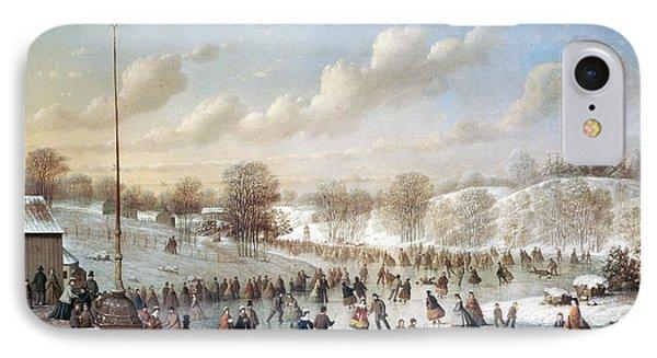 Ice Skating, 1865 Phone Case by Granger