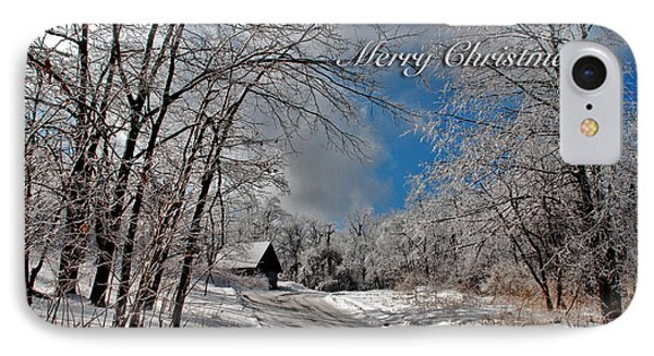 Ice Storm Christmas Card Phone Case by Lois Bryan