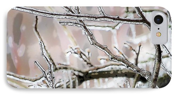 Ice Storm Ice IPhone Case by Craig Walters