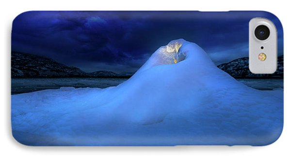 Ice Volcano IPhone Case by John Poon