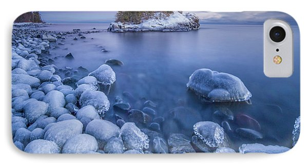 Ice World // North Shore, Lake Superior  IPhone Case by Nicholas Parker