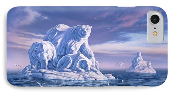 Seagull iPhone 7 Case - Icebeargs by Jerry LoFaro