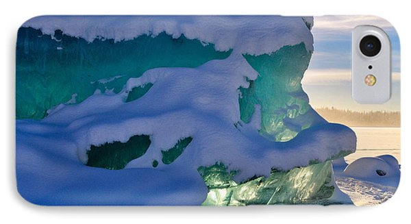 Iceberg's Glow - Mendenhall Glacier IPhone Case by Cathy Mahnke