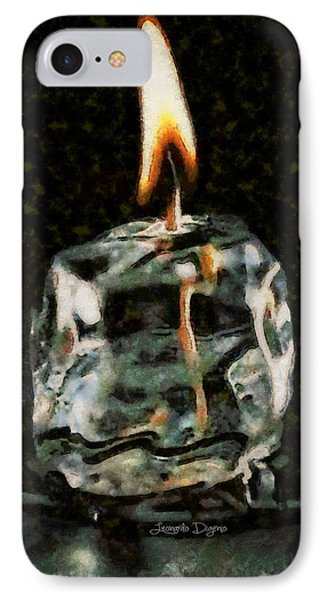 Iced Candle - Da IPhone Case by Leonardo Digenio