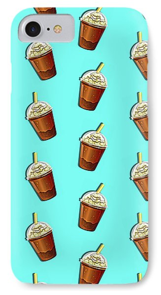 Iced Coffee To Go Pattern IPhone Case by Little Bunny Sunshine
