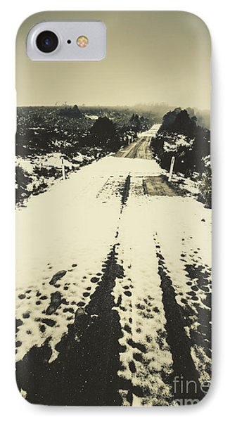 Iced Over Road IPhone Case by Jorgo Photography - Wall Art Gallery