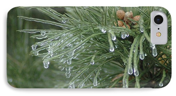 Iced Pine Phone Case by Kathy Schumann