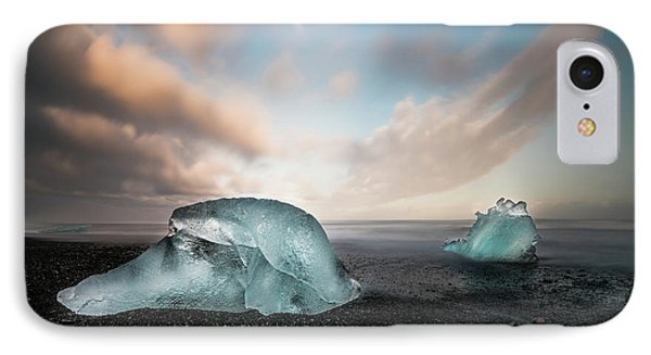 Iceland Glacial Ice IPhone Case by Larry Marshall