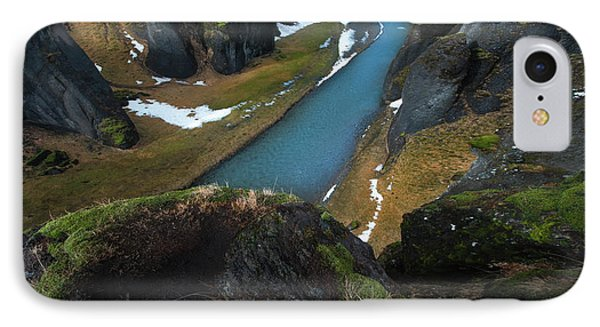 Iceland Gorge IPhone Case by Larry Marshall