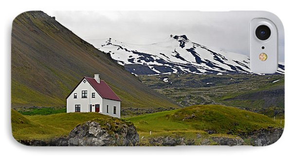 IPhone Case featuring the photograph Iceland House And Glacier by Joe Bonita