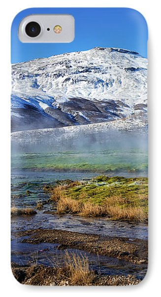 IPhone Case featuring the photograph Iceland Landscape Geothermal Area Haukadalur by Matthias Hauser