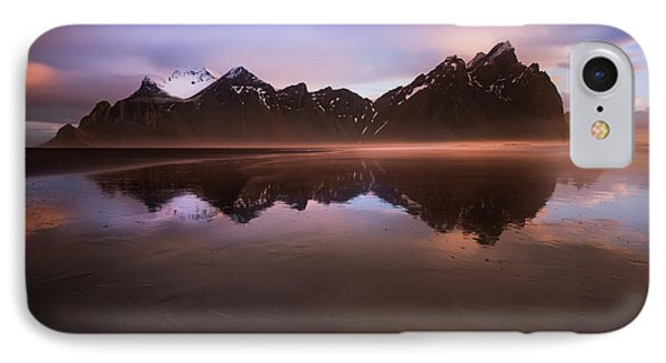 Iceland Sunset Reflections IPhone Case by Larry Marshall