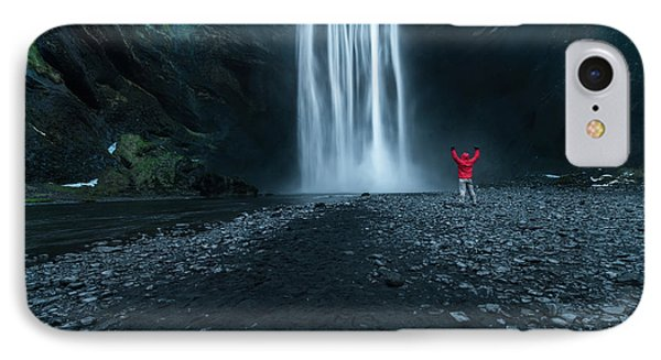 Iceland Waterfall IPhone Case by Larry Marshall