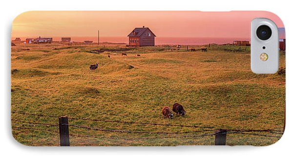 IPhone Case featuring the photograph Icelandic Farm During Sunset by Brad Scott