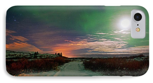 IPhone Case featuring the photograph Iceland's Landscape At Night by Dubi Roman