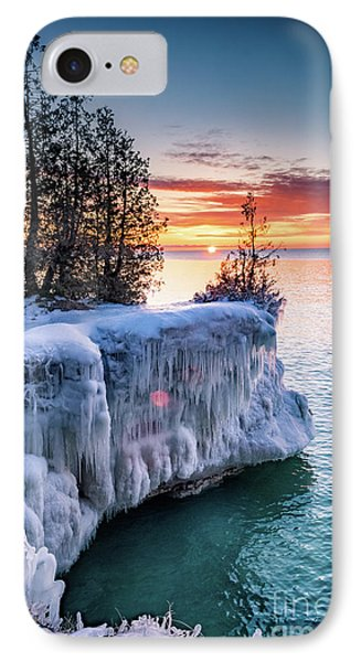 IPhone Case featuring the photograph Icicle Cliffs by Mark David Zahn Photography