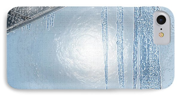 Icicles 1 - Hanging From The Eaves IPhone Case by Steve Ohlsen