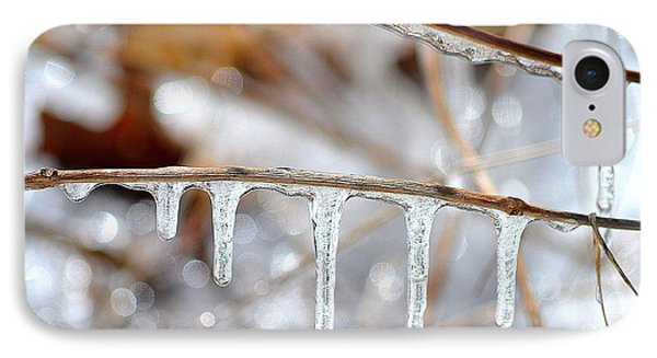 Icicles And Bokeh Phone Case by Deb Badt-Covell