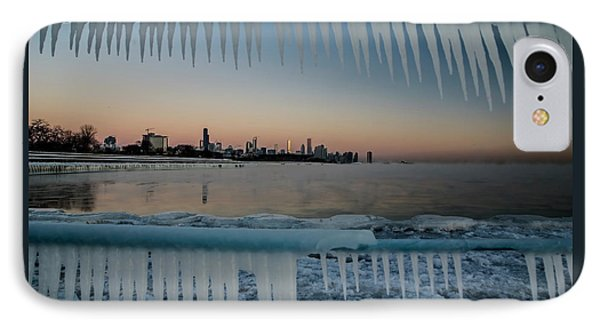 Icicles And Chicago Skyline IPhone Case