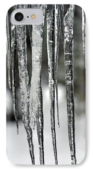 IPhone Case featuring the photograph Icicles by Juls Adams