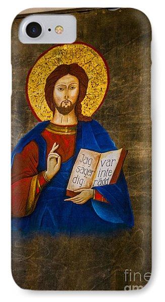 Icon Of Jesus IPhone Case by Roberta Bragan