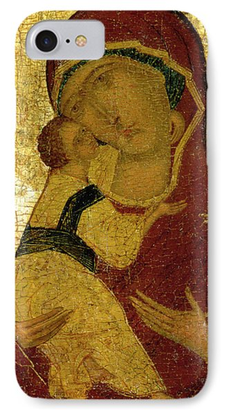 Icon Of The Virgin Of Vladimir IPhone Case by Moscow School