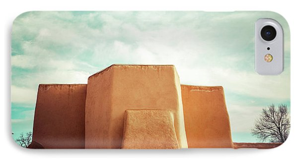 IPhone Case featuring the photograph Iconic Church In Taos by Marilyn Hunt