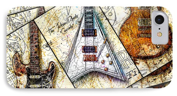 Iconic Guitars Panel 1 IPhone Case by Gary Bodnar
