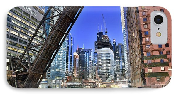 Iconic Kinzie Street View IPhone Case by Frozen in Time Fine Art Photography