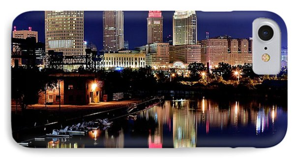 Iconic Night View Of Cleveland IPhone Case