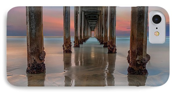 Iconic Scripps Pier IPhone Case by Larry Marshall