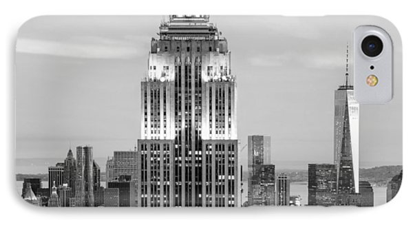 Iconic Skyscrapers IPhone Case by Az Jackson