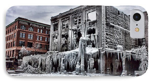 Icy Remains - After The Fire IPhone Case by Jeff Swanson