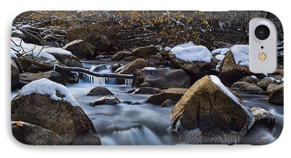 Icy River Autumn IPhone Case