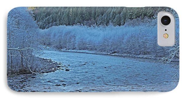 IPhone Case featuring the photograph Icy River by Jack Moskovita