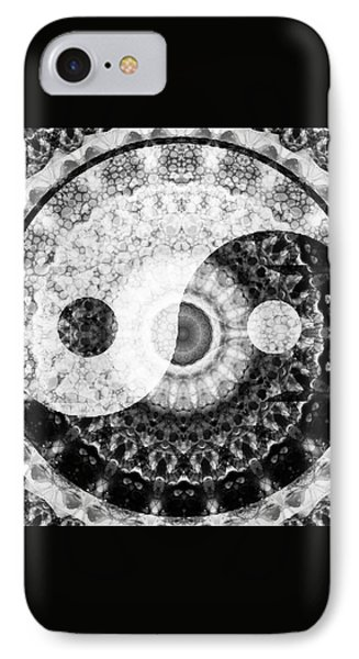 Ideal Balance Black And White Yin And Yang By Sharon Cummings IPhone Case by Sharon Cummings