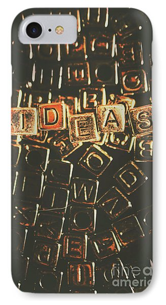 Ideas Letterpress Typography IPhone Case by Jorgo Photography - Wall Art Gallery