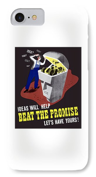 Ideas Will Help Beat The Promise Phone Case by War Is Hell Store
