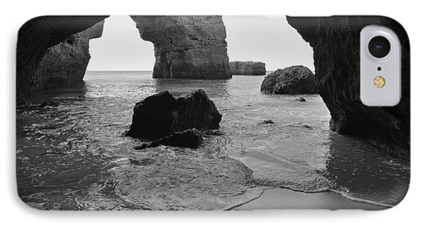 Idyllic Cave In Monochrome IPhone Case by Angelo DeVal