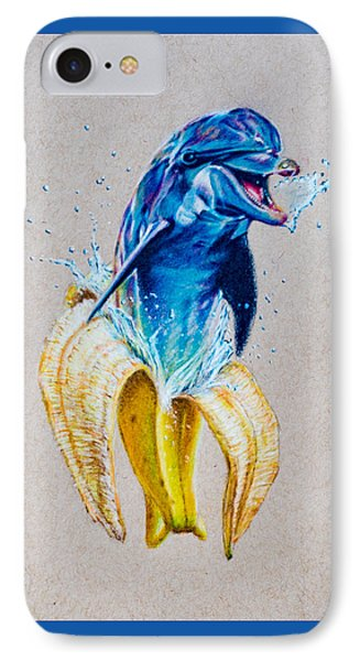 If Dolphins Came From Banana Peels IPhone Case